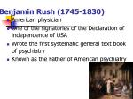 benjamin rush 1745 1830