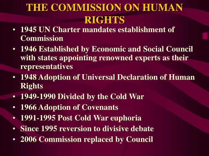 The commission on human rights