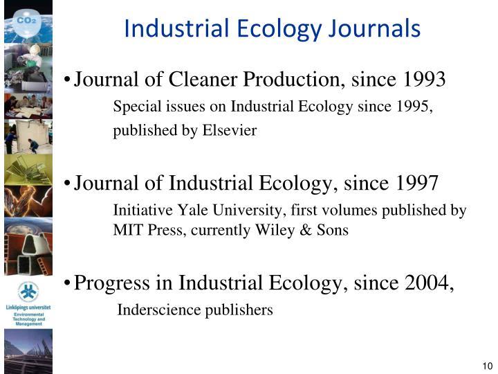 Industrial Ecology Journals