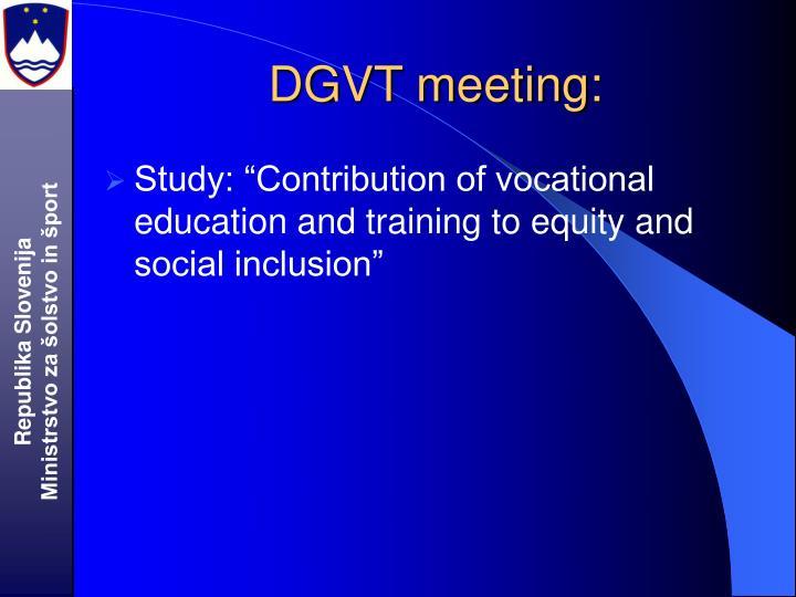 DGVT meeting:
