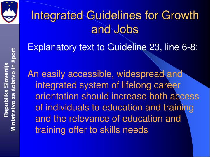 Integrated Guidelines for Growth and Jobs