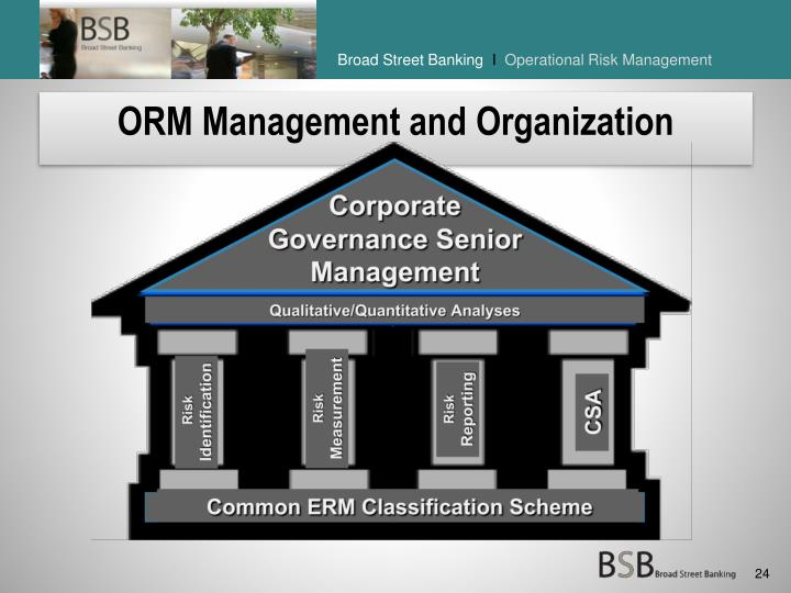 ORM Management and Organization