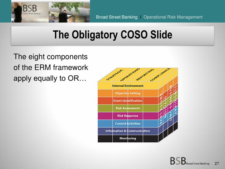 The Obligatory COSO Slide