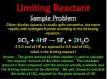 limiting reactant4