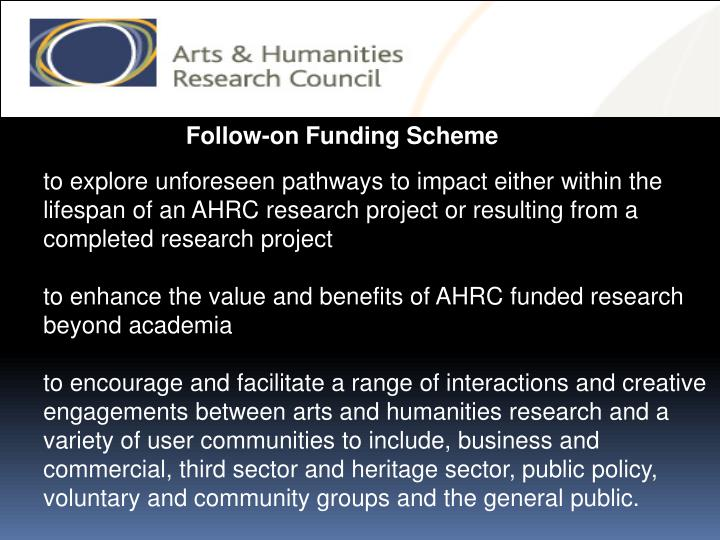 Follow-on Funding Scheme