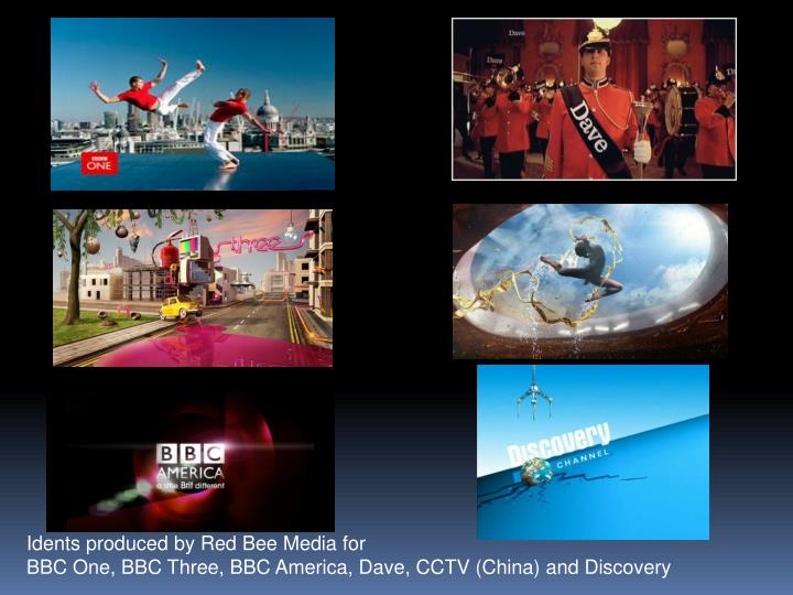 Idents produced by Red Bee Media for