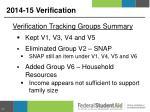 2014 15 verification