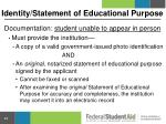identity statement of educational purpose1