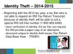 identity theft 2014 2015