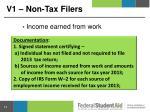 v1 non tax filers