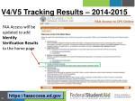v4 v5 tracking results 2014 2015