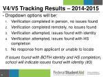 v4 v5 tracking results 2014 20153