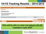 v4 v5 tracking results 2014 20154