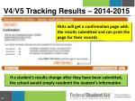 v4 v5 tracking results 2014 20155