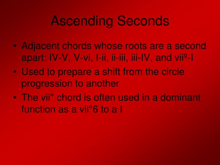Ascending Seconds