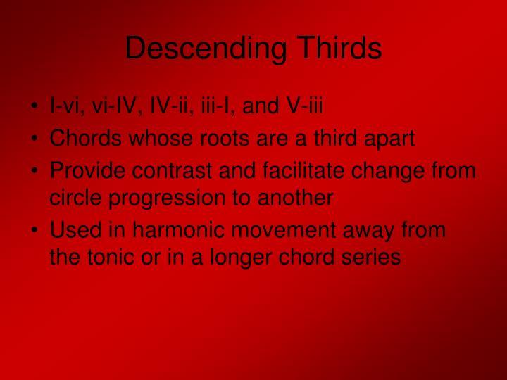 Descending Thirds