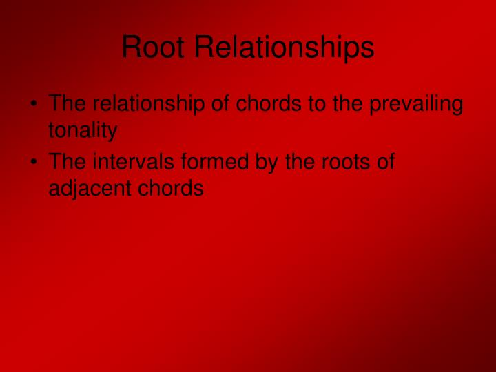 Root relationships