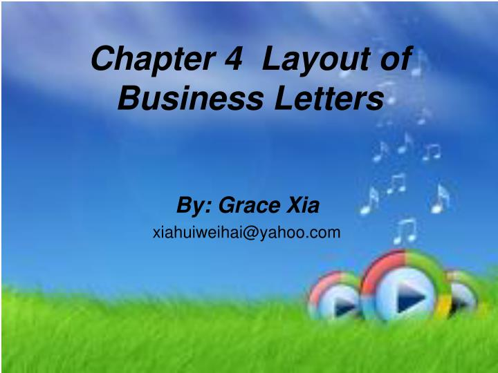 chapter 4 layout of business letters n.
