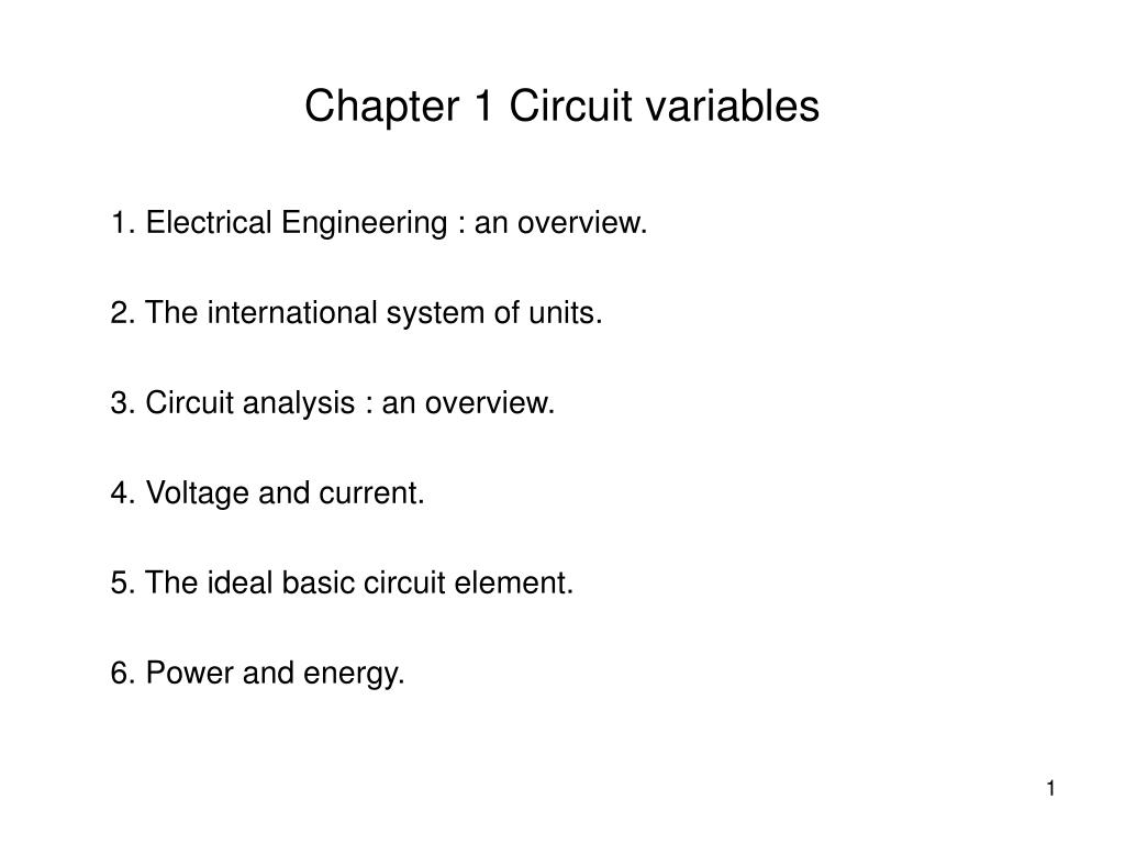 Ppt Chapter 1 Circuit Variables Powerpoint Presentation Id5172077 Negative Voltage Reference 2 Basiccircuit Diagram N
