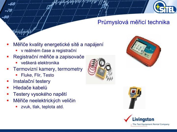 Měřiče kvality energetické sítě a napájení