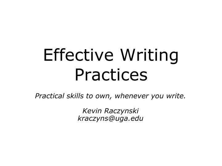 effective writing practices n.