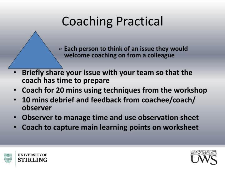Coaching Practical