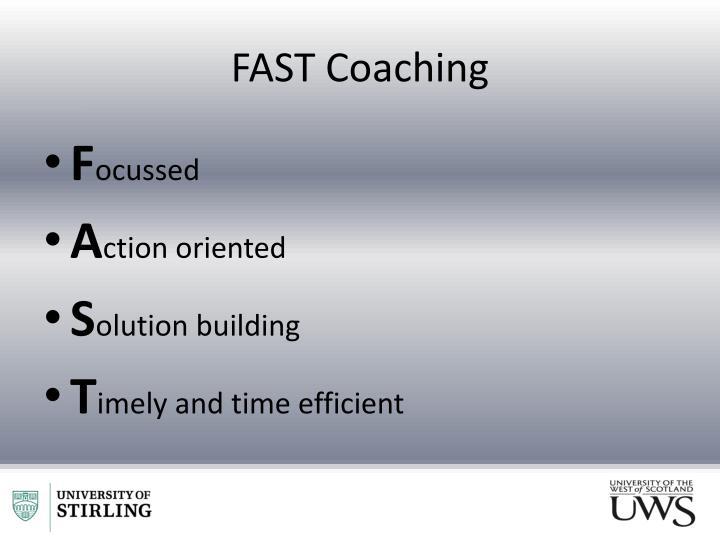 FAST Coaching