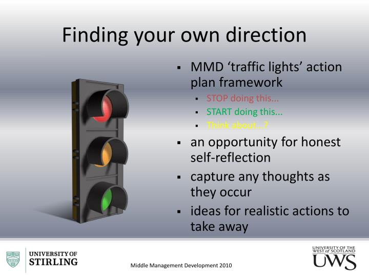 Finding your own direction