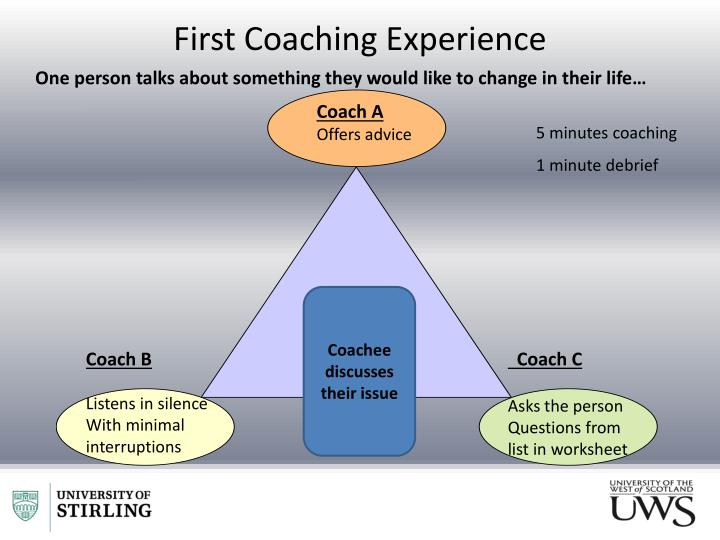 First Coaching Experience