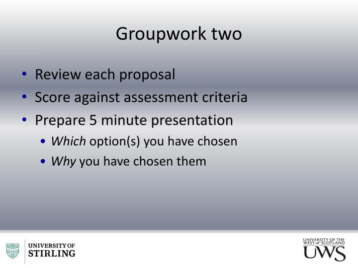 Groupwork two