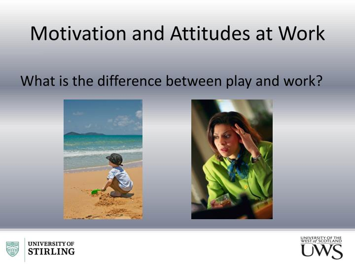 Motivation and Attitudes at Work