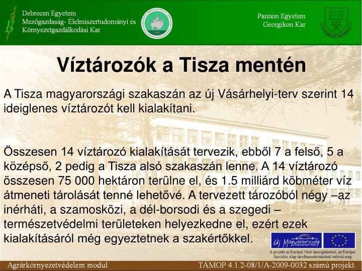 Víztározók a Tisza mentén