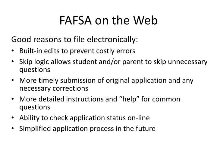 FAFSA on the Web