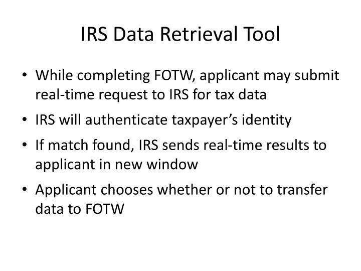 IRS Data Retrieval Tool