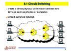 8 1 circuit switching