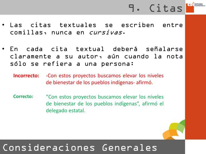 9. Citas