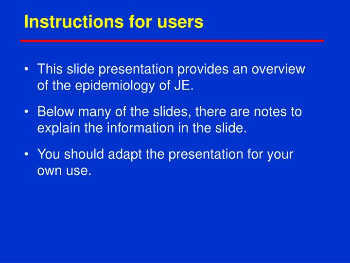 instructions for users n.