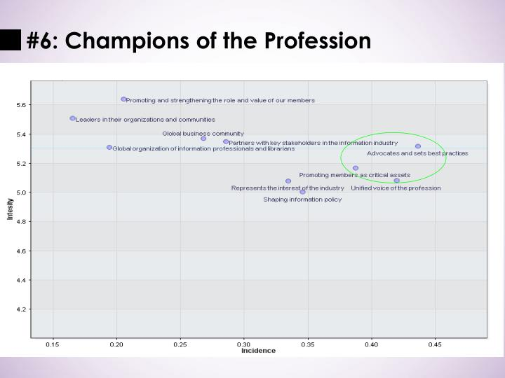 #6: Champions of the Profession