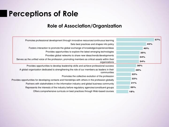 Perceptions of Role
