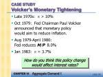case study volcker s monetary tightening