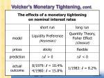volcker s monetary tightening cont