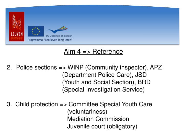Aim 4 => Reference