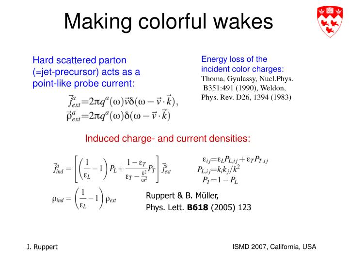 Making colorful wakes