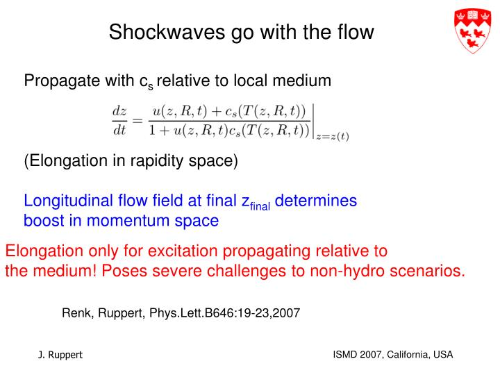 Shockwaves go with the flow