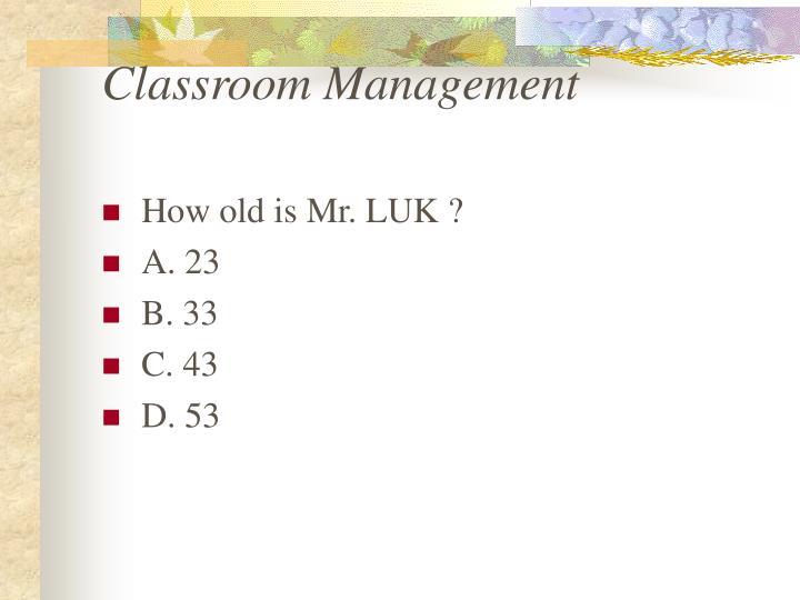 Classroom management1