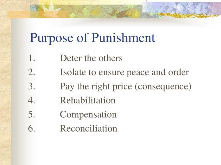 Purpose of Punishment
