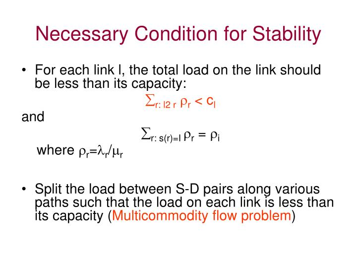 Necessary Condition for Stability