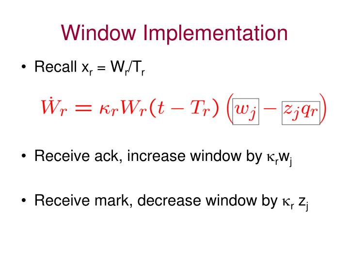 Window Implementation