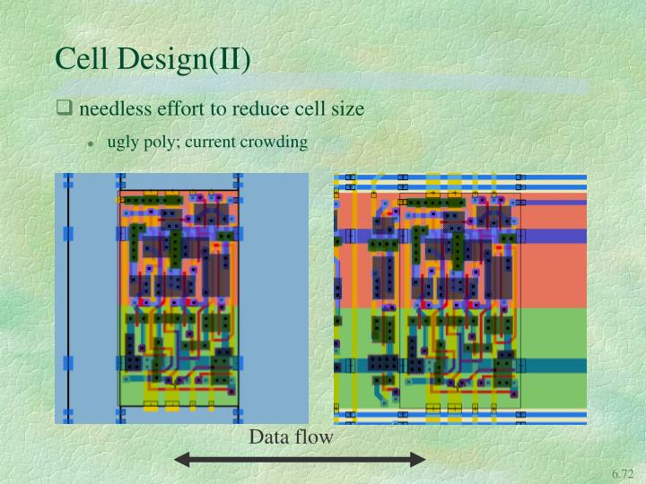 Cell Design(II)