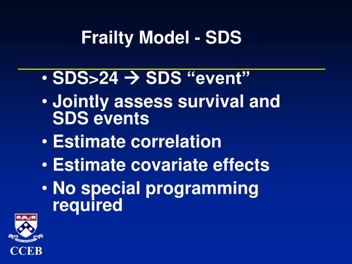 Frailty Model - SDS